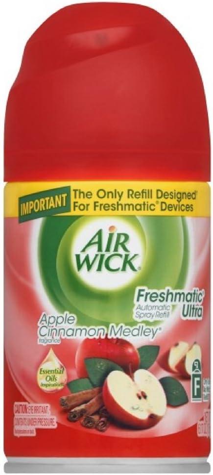 Air Wick Freshmatic Automatic Spray Air Freshener, Apple Cinnamon Medley Scent, 1 Refill, 6.17 Ounce