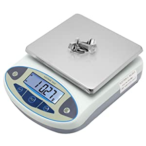 CGOLDENWALL High Precision Lab Analytical Electronic Balance Digital Precision Scale Laboratory Precision Weighing Electronic Scales Balance Jewelry Scales Gold Balance Kitchen Scales (2000g, 0.01g)