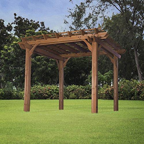 backyard discovery cedar pergola 10 by 12. Black Bedroom Furniture Sets. Home Design Ideas