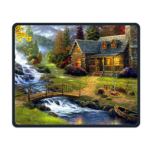 Elks Livingg In Village Of Dorset Comfortable Rectangle Rubber Base Mousepad Gaming Mouse Pad (Best Villages In Dorset)