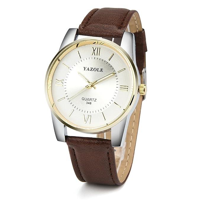 Beladla Relojes Hombre Automaticos Relojes De Pulsera El Man Banda De Cuero Relojes De Acero Inoxidable para Hombres: Amazon.es: Ropa y accesorios