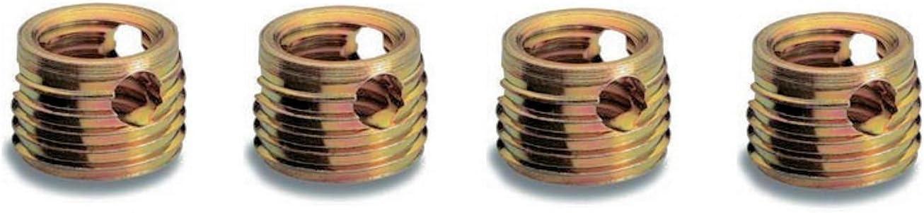 Messing Ensat/®-SB Gewindereparatur-Eins/ätze Gewindeeins/ätze Schneidbohrung verschiedene Gr/ö/ßen M 8 x 9 mm