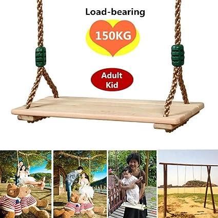 Home+Swing Chair Mecedora Columpios De Jardín para Niños De Madera Columpios para Adultos Y Niños Columpio De Juguete De Madera Columpio con Cuerda Juguetes Niños Casita De Juegos Al Aire Libre: Amazon.es: