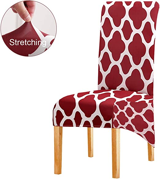 Long Back Chair Cover L Size Floral Printing for Hotel Party Banquet Home Decors