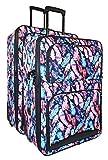 Ever Moda Peacock Feather 2-Piece Luggage Set