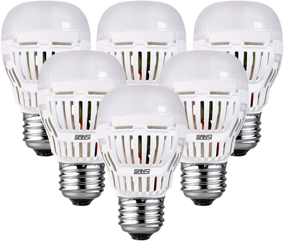 SANSI 9W(100w Equivalent) A15 LED Bulbs, ETL Listed, 900-1000lm Daylight 5000K LED Light Bulbs, 6-Pack