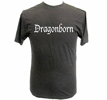 6ff12f9e Teamzad Skyrim Inspired Dragonborn T shirt Extra Extra Large: Amazon.co.uk:  Clothing