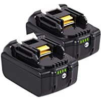 Geelink 2 pack 6.0Ah 18V BL1860B LXT Lithium-Ion Replacement Battery for Makita BL1815 BL1830 BL1820 BL1850 BL1840…