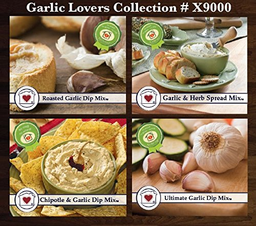 - Garlic Lover's Dip Mix Collection - Roasted Garlic, Chipotle & Garlic, Garlic & Herb, and Ultimate Garlic
