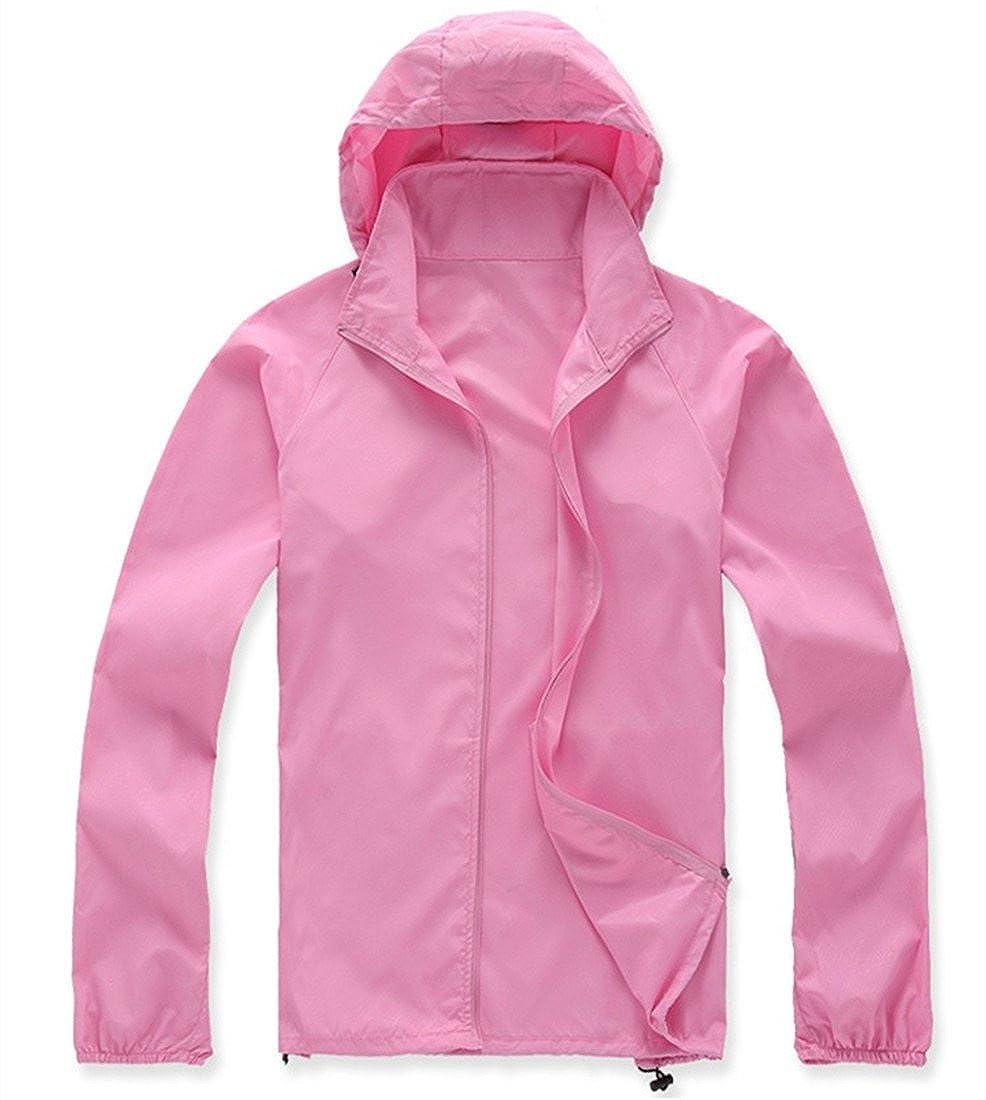 Pink XXLarge LANBAOSI Women's Lightweight Jacket UV Predect+Quick Dry Windproof Skin Coat