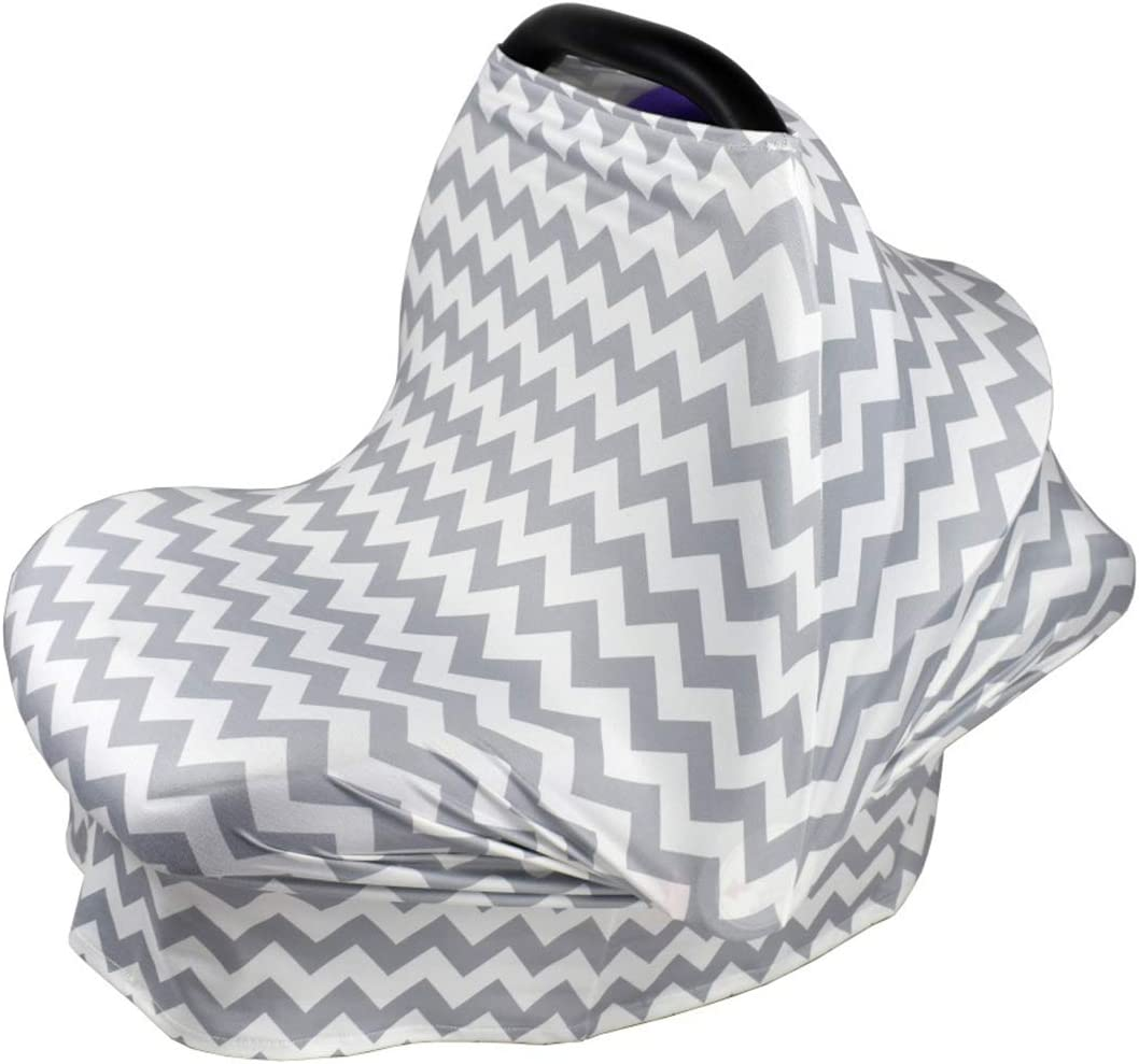 Nursing Scarf Infant Stroller Cover Multi Use Car Seat Covers for Babies Yolispa Breastfeeding Nursing Cover Scarf Baby Shower Gifts for Boys /& Girls