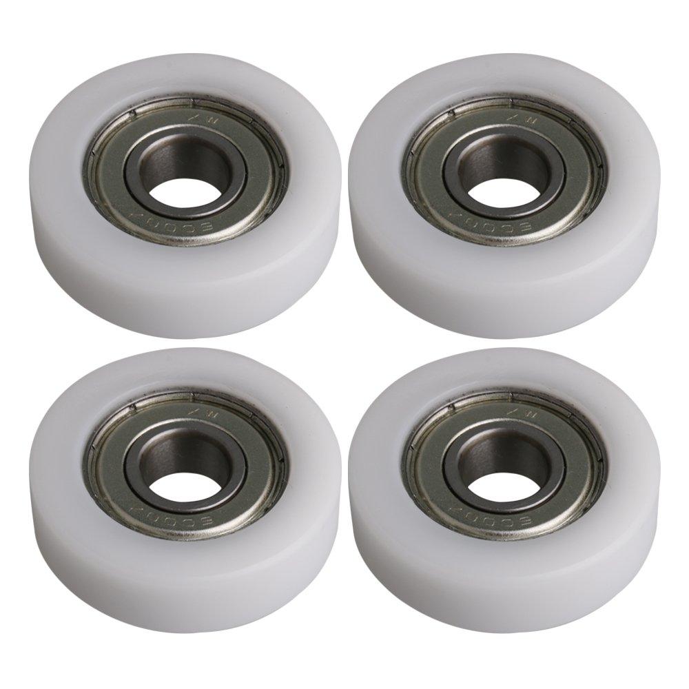 BQLZR 36x10x10.5mm Blanco 6000ZZ Rodamiento Plano Rodamiento de bolas Rueda de rodillos Roller 97KG Rodamiento de carga Polea de muebles Pack de 4: ...
