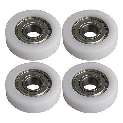 BQLZR 36x10x10.5mm Blanco 6000ZZ Rodamiento Plano Rodamiento de bolas Rueda de rodillos Roller 97KG