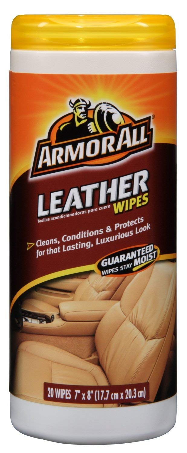 ArmorAll 10927/10881 Leather Wipes 20 Count 3 Pack (4-Pack(20 Count, 3 Pack))