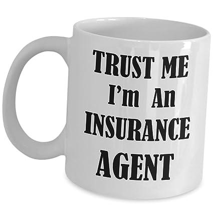 Amazon Com Funny Insurance Sales Agent Gifts Coffee Mug Trust Me
