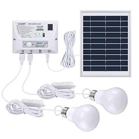 Amazon.com: SUAOKI Kit de luces de sistema de panel solar ...
