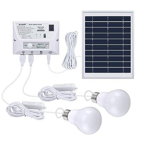 Amazon.com: SUAOKI Kit de luces de sistema de panel solar ...