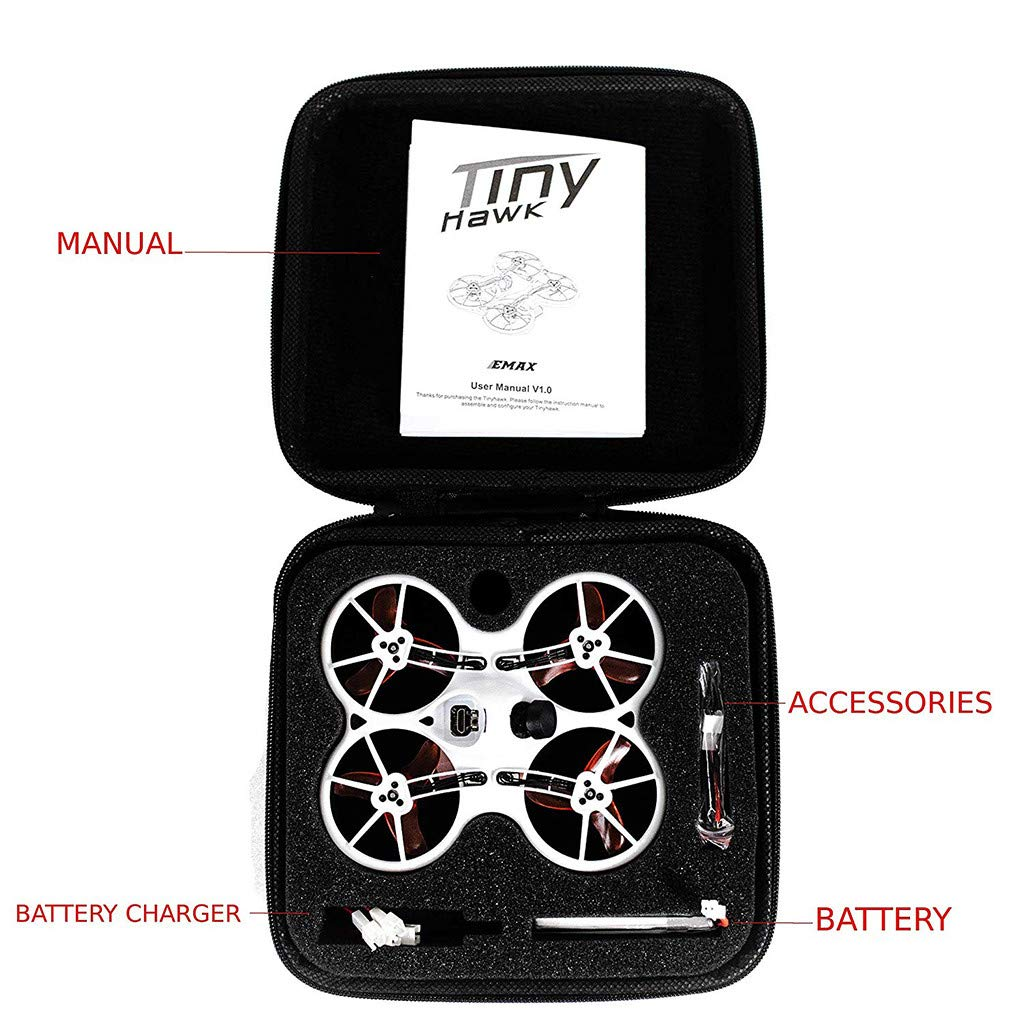 LuminitA EMAX Tiny Receiver Brushless Micro Indoor Racing Drone Whoop 75mm Ready to Fly FPV Beginners Durable Inverted Motors Full Acro Level Horizon Mode by LuminitA (Image #5)