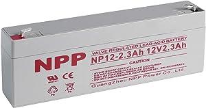 NPP NP12-2.3Ah 12V 2.3 Ah Rechargeable Lead Acid Battery F1 Terminals
