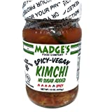 Madge's Vegan Kimchi Spicy 15 oz - No-Sugar Added - Fermented - Raw - Probiotic