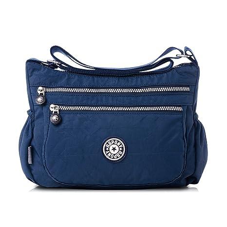 7ad17336bcacf Nlyefa Nylon Handtasche Umhängetasche Damen Sportliche Schultertasche  Wasserdicht EINWEG