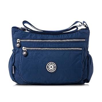 bc70e7c35e6cf Nlyefa Nylon Handtasche Umhängetasche Damen Sportliche Schultertasche  Wasserdicht EINWEG