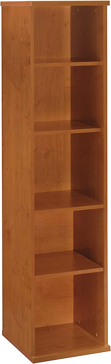 Bush Business Furniture Series C Collection 18W 5 Shelf Bookcase in Natural Cherry