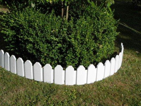 Zaun 4 Tlg Rasenkanten Beeteinfassung Palisade Beetumrandung Garten