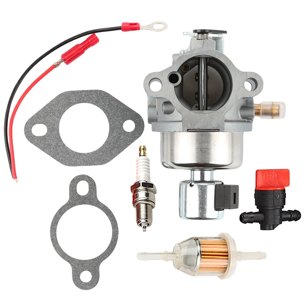 Hilom 20-853-33-S Carburetor + Fuel Filter for Kohler Courage SV Series SV470 SV480 SV530 SV540 SV590 SV591 SV600 SV601 SV610 SV620 SV530S CV CV490 CV492 CV493 117-S Engine - Kohler CV491 Carburetor