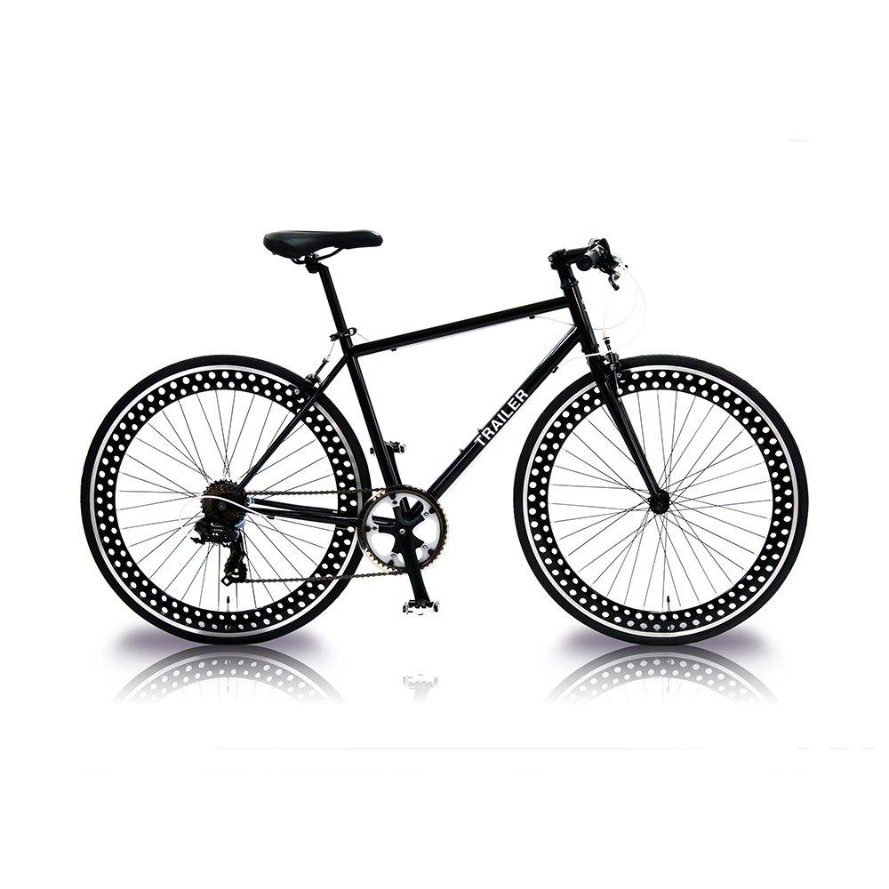 TRAILER(トレイラー) 700Cクロスバイク6段変速 TR-C7001 B01G1AGUG0ブラック
