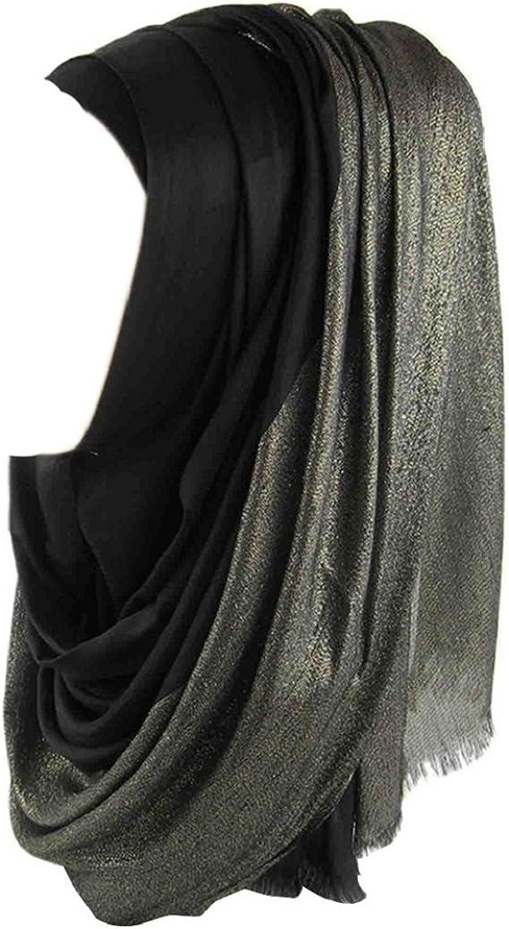 Bodhi2000/® Scialle islamico musulmano luccicante e luccicante per Hijab