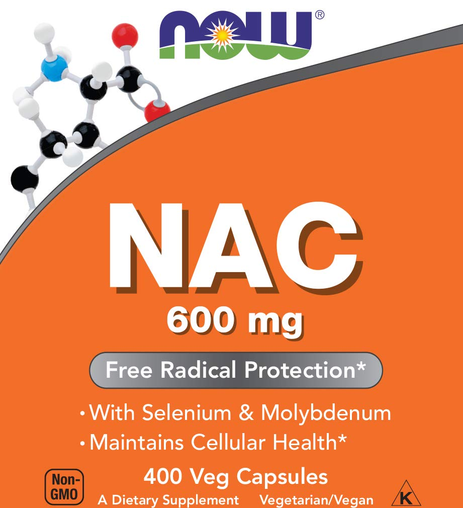 Now NAC 600 mg, 400 Veg Capsules - N-Acetyl-Cysteine Enhanced with Selenium & Molybdenum by NOW Foods (Image #2)