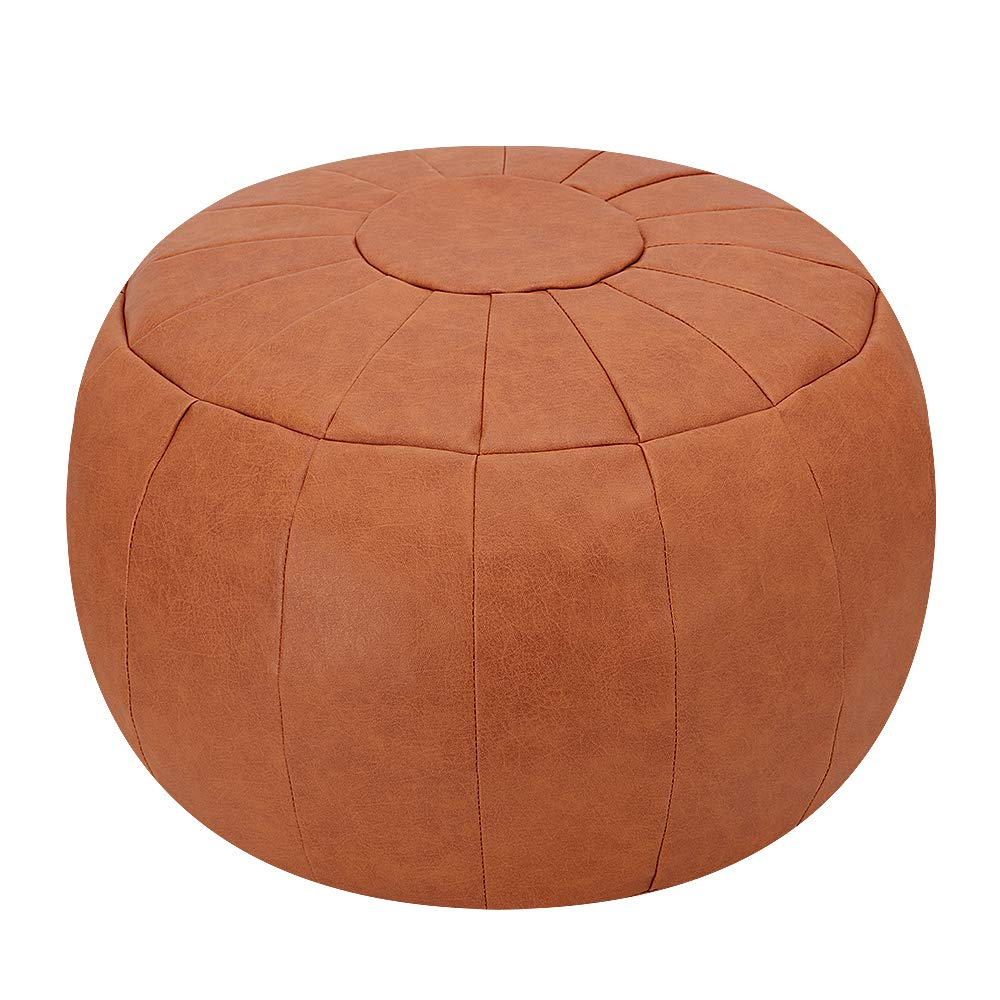 Rotot Decorative Pouf, Ottoman, Bean Bag Chair, Foot Stool, Foot Rest, Storage Solution or Wedding Gifts (Unstuffed) (Tan) by Rotot