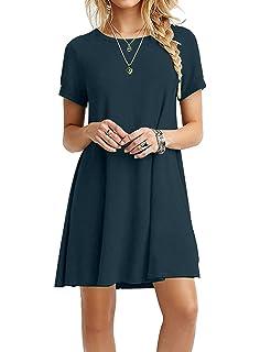 381b7a331989 Your Cozy Abito casual nero per le donne Tshirt abito manica lunga con  maniche lunghe
