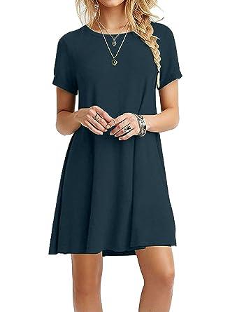 Your Cozy Gemütliches beiläufiges schwarzes Kleid für Frauen Langarm Tunika  Tshirt Kleid Prime  Amazon.de  Bekleidung 3f91923234
