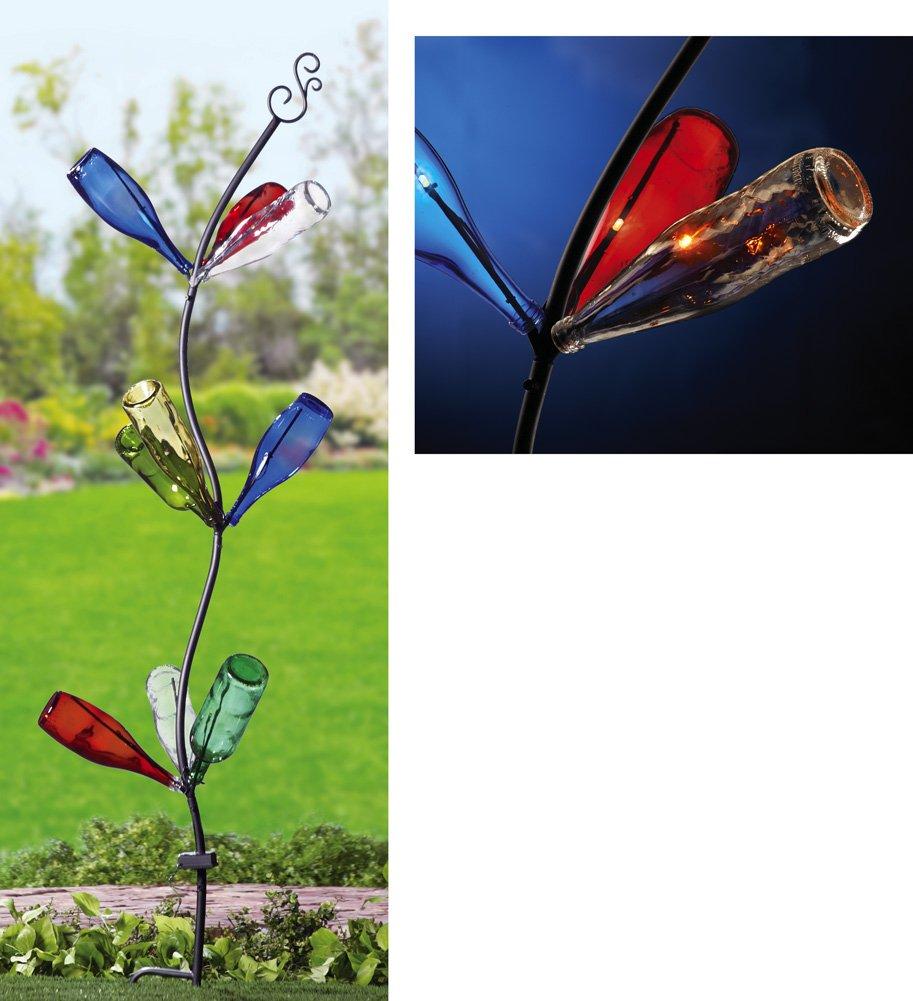 Amazon.com : Solar Garden Freestanding Bottle Tree Stake with 9 ...