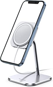 Lamicall Phone Stand for MagSafe Charger - Adjustable Aluminum Charging Holder Dock Cradle for Desk 360° Rotation, Compatible with Apple iPhone 12, 12 Mini, 12 Pro, 12 Pro Max[MagSafe is Not Included]