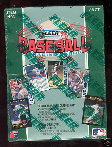 (1992 Fleer Baseball Wax Pack Box Card Set Roger Clemens AUTO possible)