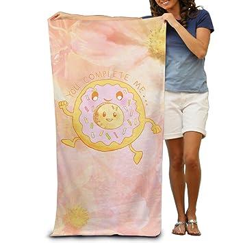 Wolopo Toallas de baño divertidas Donut para playa, toallas de piscina para adultos suave y absorbente: Amazon.es: Hogar