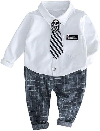 Mitlfuny Bebé Niñas Niño Gentleman Conjunto de Ropa Camisetas de ...