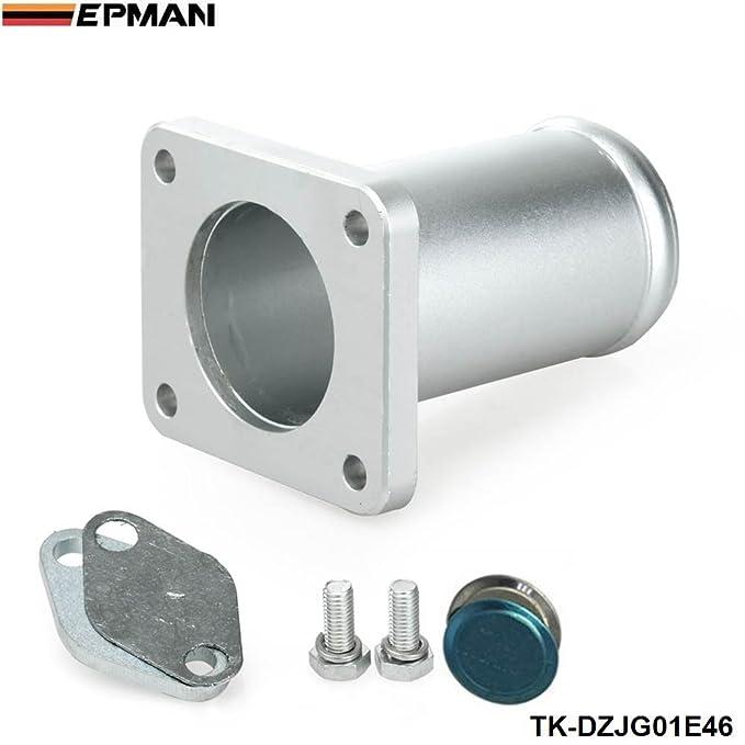 epman aluminio escape EGR Kit de extracción Bypass de relleno para BMW E46 318d 320d 330d 330 x d 320 Cd 318td 320TD (plata): Amazon.es: Coche y moto
