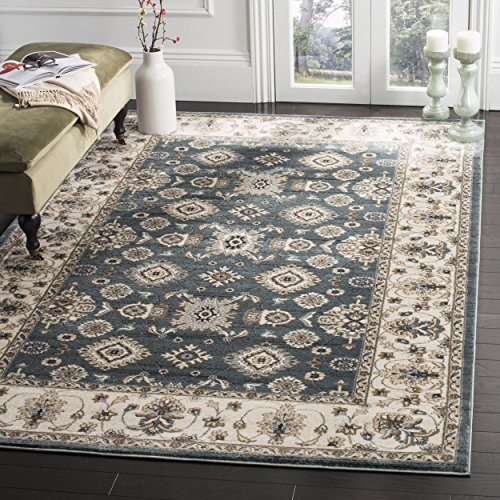Safavieh Lyndhurst Collection LNH332T Traditional Oriental Teal and Cream Area Rug 6 x 9
