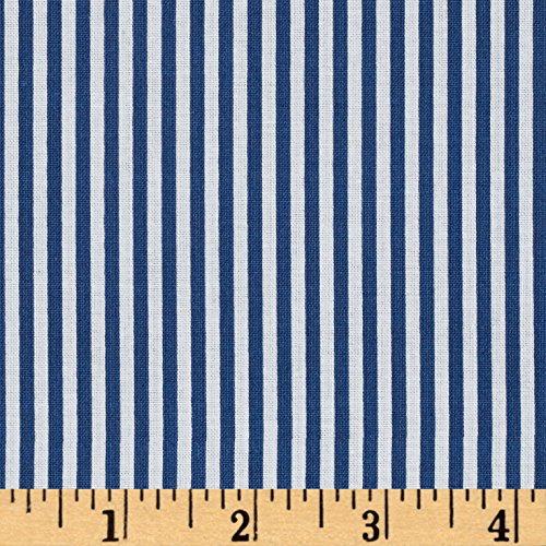 (Riley Blake Designs Riley Blake 1/8in Stripes Denim Fabric by The Yard,)