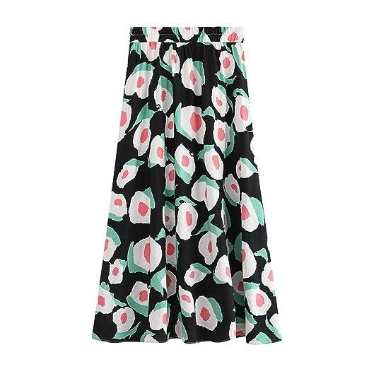 Go First Mujer Faldas de Moda de Verano Estampado Floral Falda de ...
