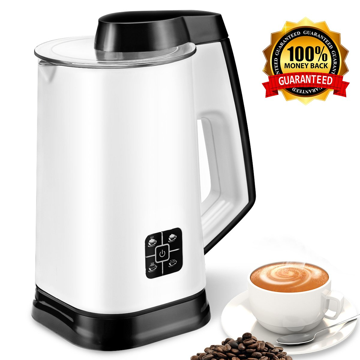 Amazon.com: Electric Milk Frother Machine Milk Foam Frother & Heater ...