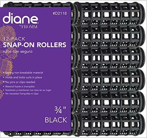 Diane Snap-on Rollers * 3/4 Inch * 12 Rollers Per Bag by Diane Beauty Accessories
