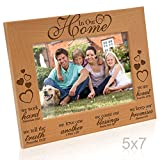 Kate Posh - In Our Home Bible Verses Engraved Natural Wood Picture Frame - Inspirational Gifts, Family Gifts, Christmas Gifts, Religious Gifts, Christian Gifts, Housewarming Gifts (5x7-Horizontal)