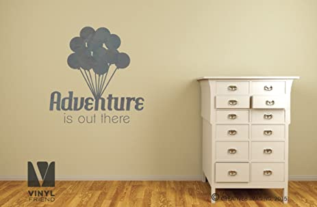 Amazon.com: Adventure is out there wall decor vinyl decal print ...