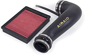 AirAid Cold Air Intake Kit 201-796; Black Tube Red Filter for Chevy Trucks