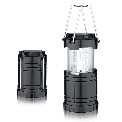 adicom LED Camping lámpara portátil/Linterna Lámpara para tienda de campaña plegable/Lámpara dos asas cromo/Ultra Luminoso para senderismo, Camping en plein ...